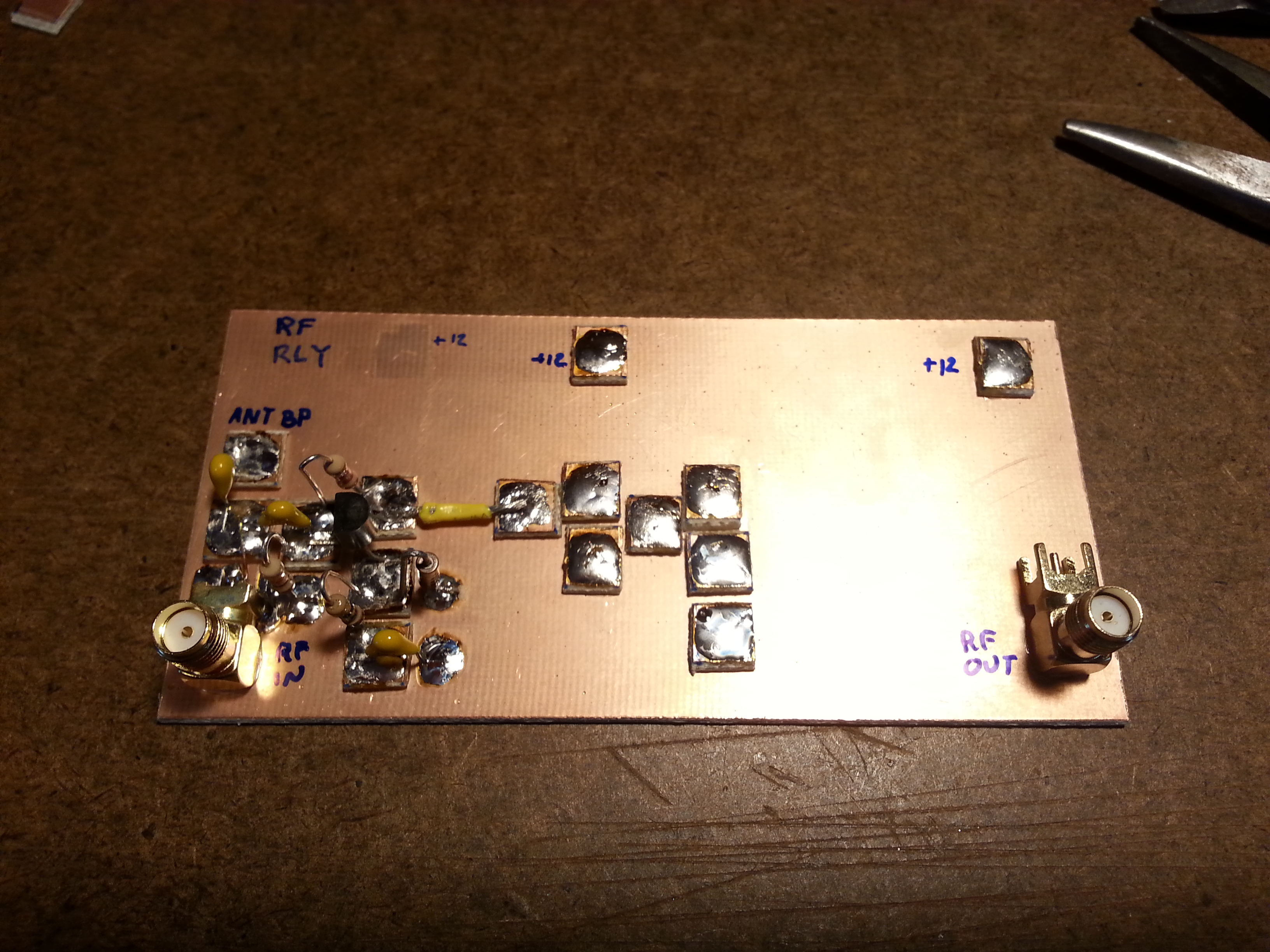 Rf Design Kk6gxg Buffer Stage The Last Thing I Worked On Before Turning Off Soldering Iron Was Three Amplifier