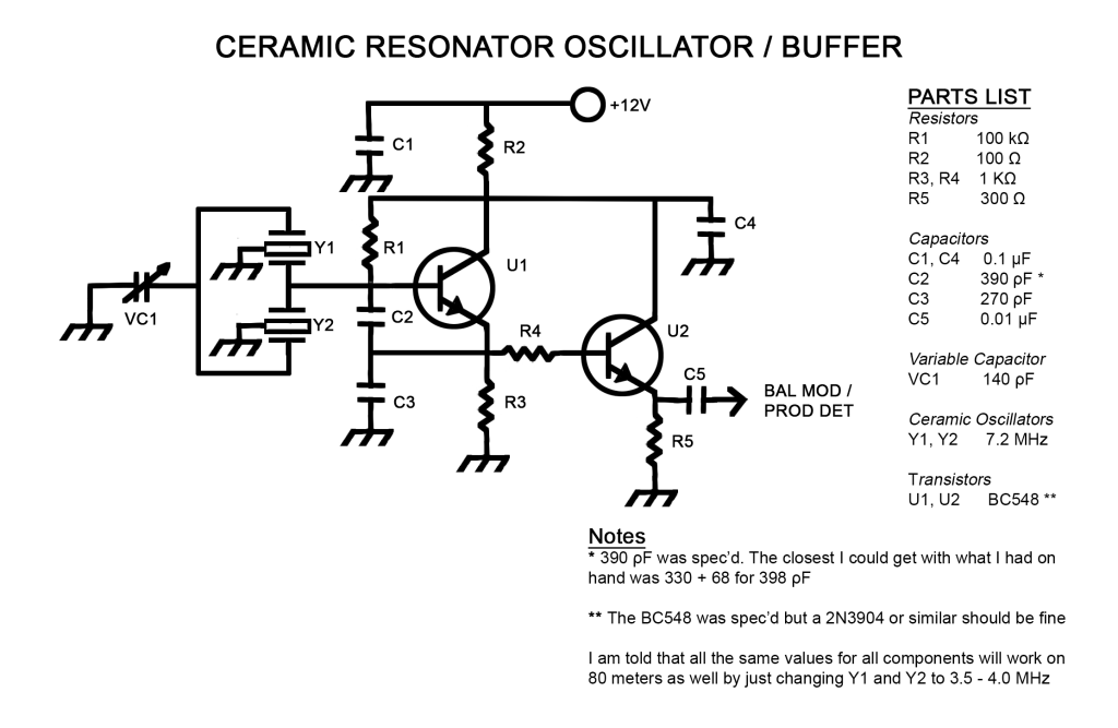 Ceramic Resonator VXO